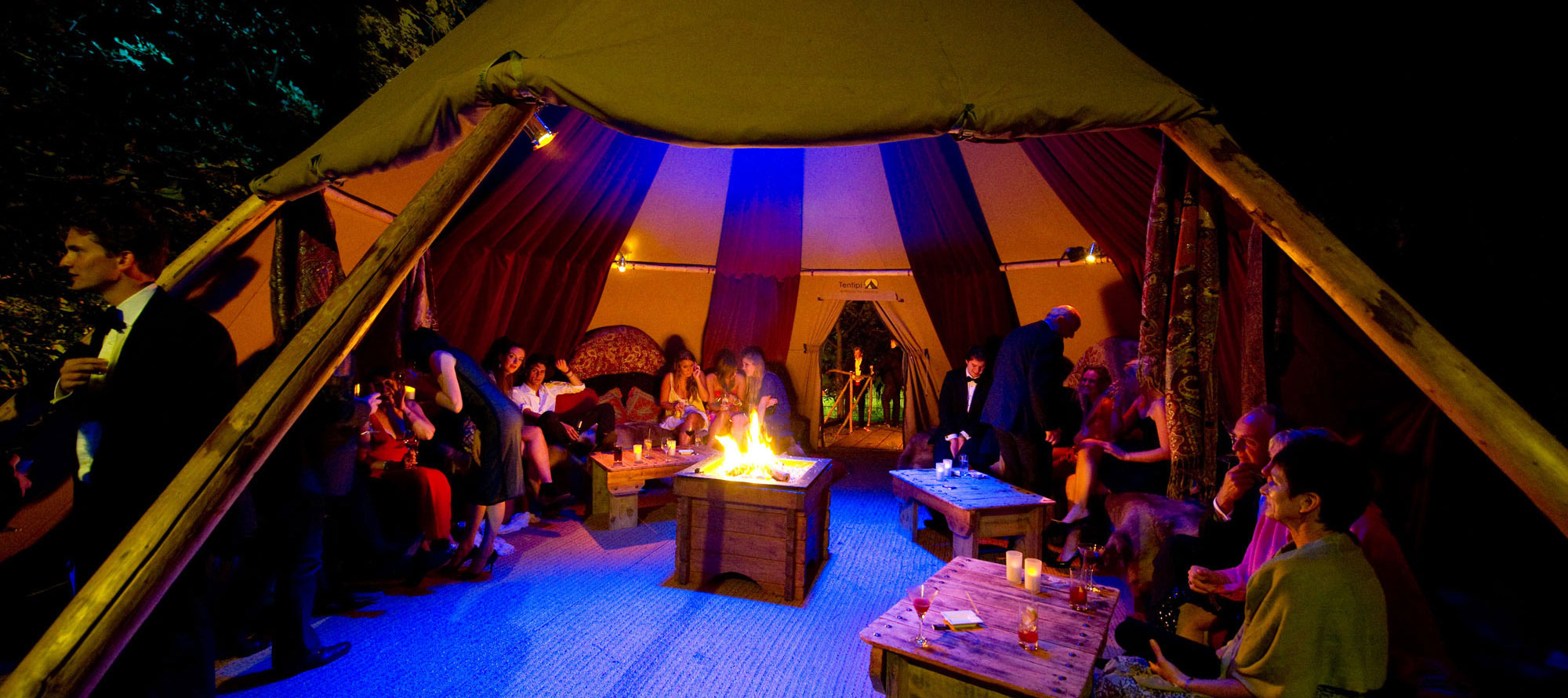 Tentipi interior and fire - giant hat kata tents for sale