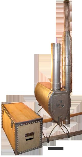 Rear wood installing a flue stove