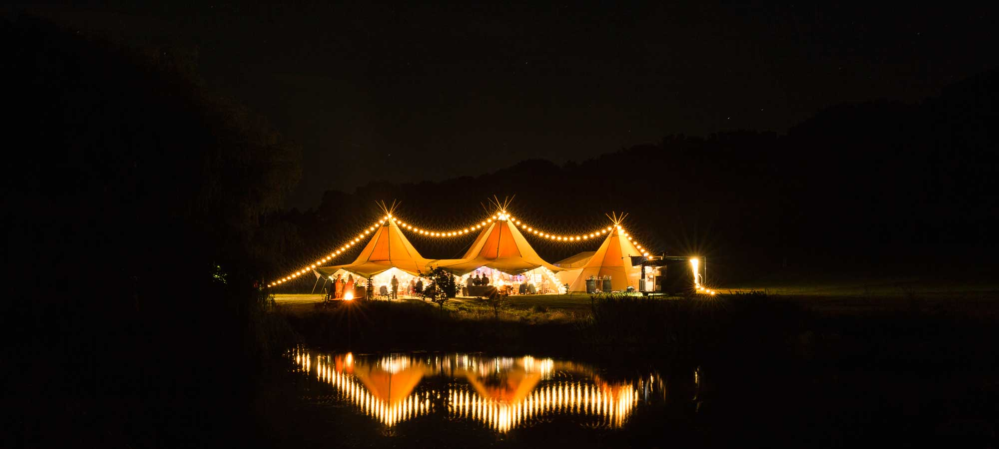 Tentipi event tents by night - event teepee to purchase