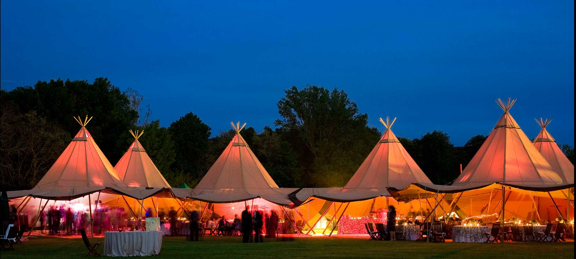 Tentipi multiple tipi build - event teepee for sale