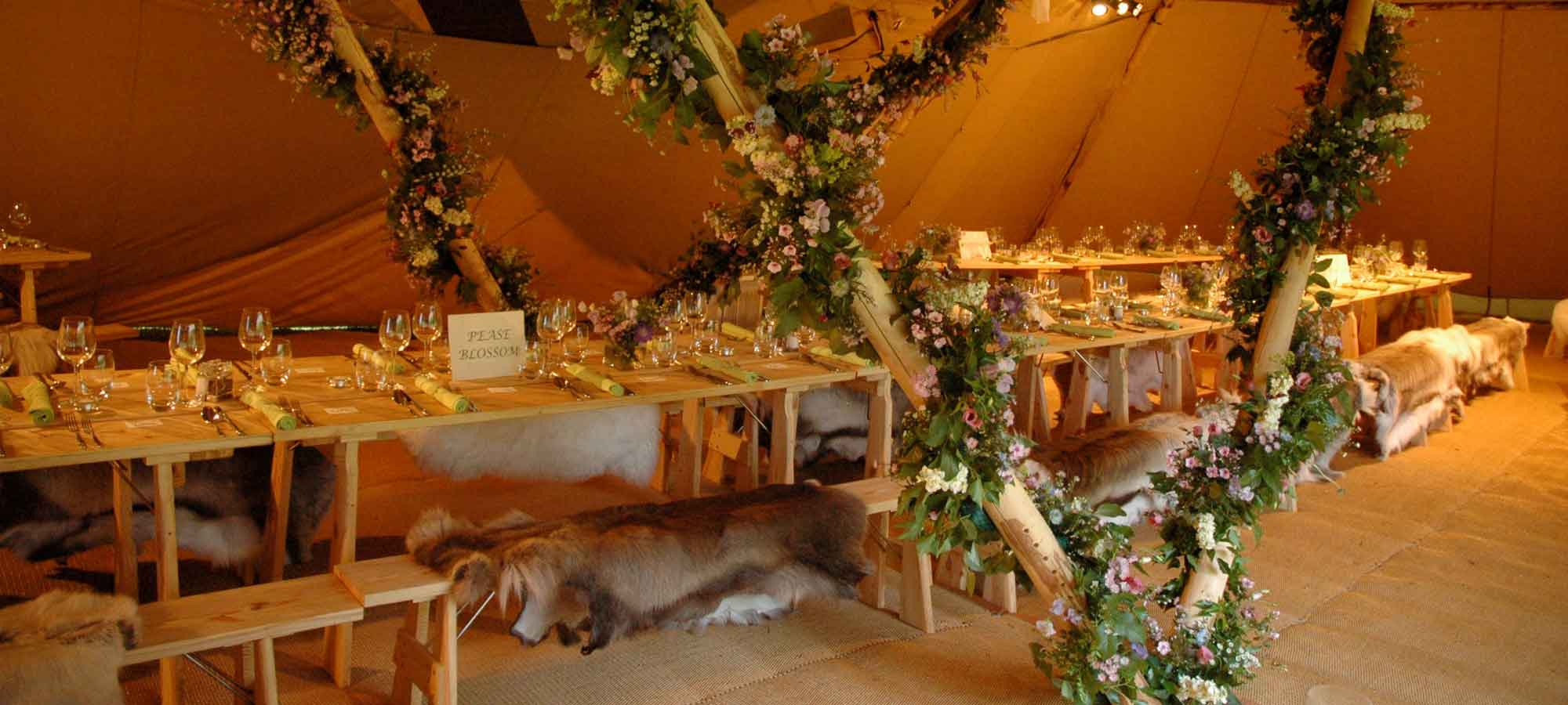 Tentipi reindeer hides - giant hat wedding tipi to purchase