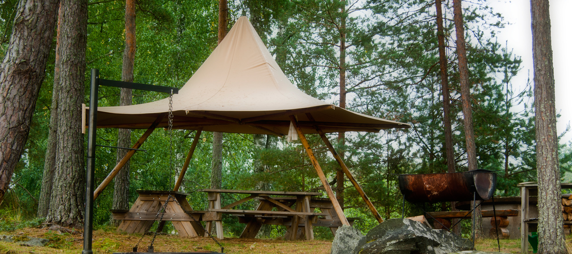 Tentipi Nimbus for covered outside dining - purchase event tipi