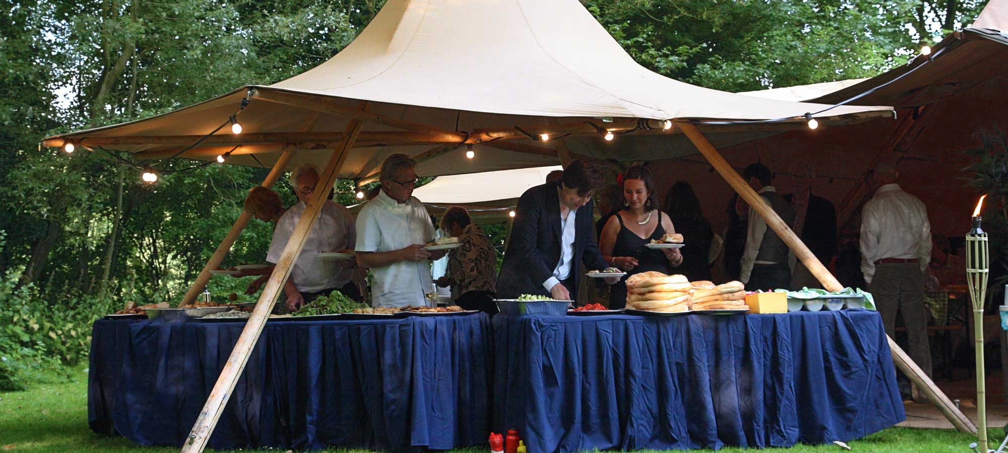 Tentipi Nimbus serving station - purchase event tipi