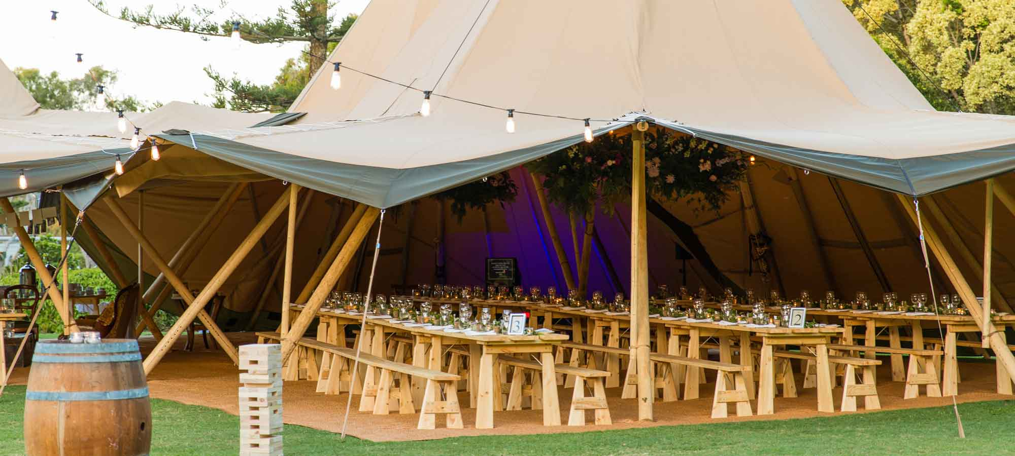 Tentipi tables and benches - kata tent to purchase