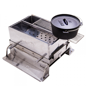 40024 Hekla fire box stand with 40035 Hekla BBQ grate 30