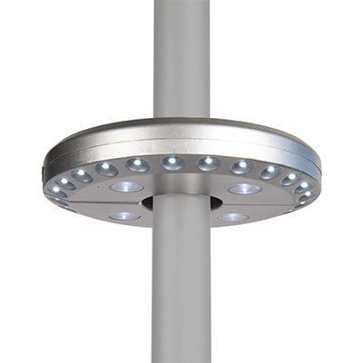 central pole light disc