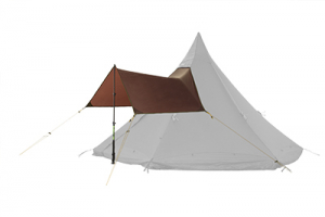 Rain Roof Olivin Grey Single pole